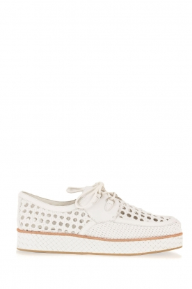 What For |  Leather platform derby Gauthier | white