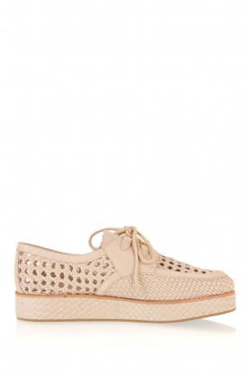 What For |  Leather platform derby Gauthier | nude