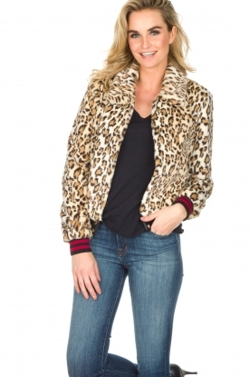 Set | Faux fur bomber Ziva | Dierenprint