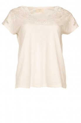 Louizon | Top with embroidered details Adalyna | white