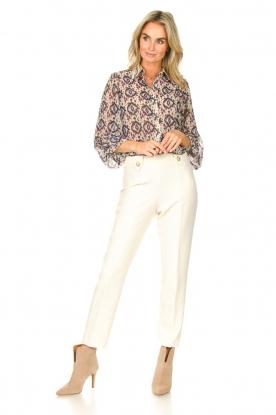 Look Printed blouse Pillar