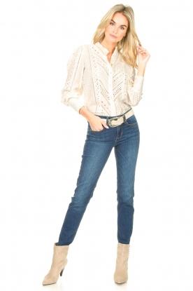 Look Broderie blouse Gitte