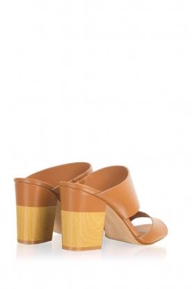 What For   Leren sandalen Chris   camel