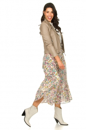 Look Floral maxi skirt Garfunk