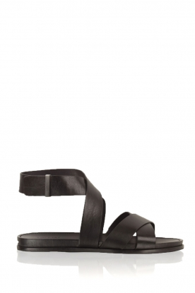 What For | Leren sandalen Aya | zwart