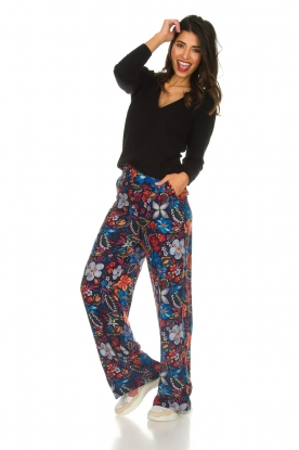 Essentiel Antwerp |  Wide leg trousers with print Slara | multi