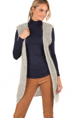 Ruby Tuesday | Wollen gilet Hasina | grijs