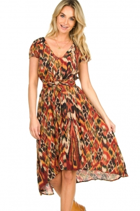 Louizon |  Printed midi skirt Touzek | red