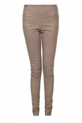 Ruby Tuesday |  Leather leggings Rikke | grey