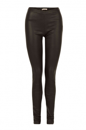 Leather leggings Rikke | black