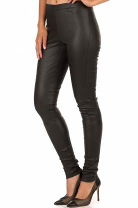 Ruby Tuesday | Leren legging Rikke | zwart