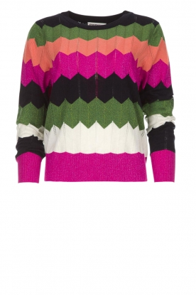 Essentiel Antwerp |  Zigzag sweater Susan | multi