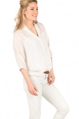 IKKS | Semi-sheer blouse  Chemise | wit