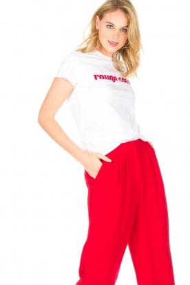 Tara Jarmon | T-shirt Rouge Coeur | wit