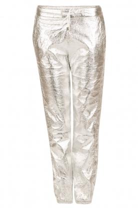 IKKS | Zilveren pantalon Susana | zilver