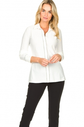 D-ETOILES CASIOPE |  Travelwear blouse Verona | white