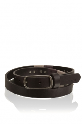 IKKS |  Leather belt Tresse | black
