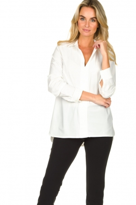 D-ETOILES CASIOPE |  Travelwear blouse Veritas | white