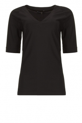 D-ETOILES CASIOPE | Travelwear v-neck top Vertigo | black