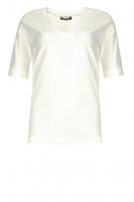 D-ETOILES CASIOPE | Travelwear v-neck top Vertigo | white