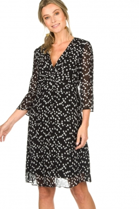 Patrizia Pepe |  Dress with dots print Lore | black