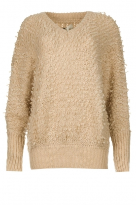 Be Pure | Soft loop knit sweater Anne | beige