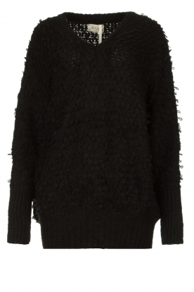 Be Pure | Soft loop knit sweater Anne | black