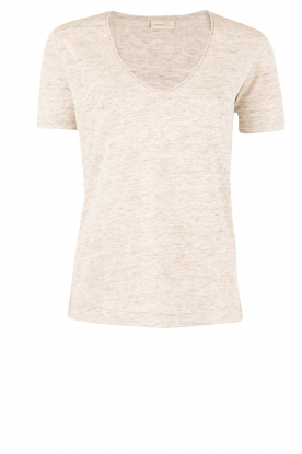 By Malene Birger | Linnen T-shirt Jyttio | grijs