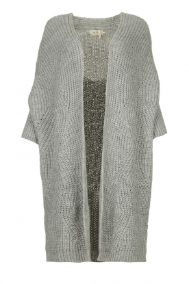 Be Pure |  Knitted kimono cardigan Kim | grey