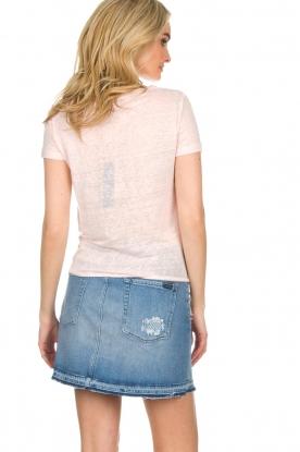 BLAUMAX | Linnen T-shirt Alicia | roze