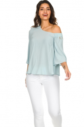 Patrizia Pepe |  Off-shoulder top Serena | blue