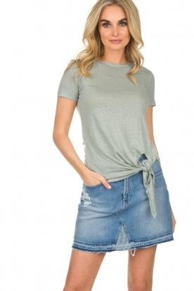 BLAUMAX | Linnen T-shirt Alicia | blauw