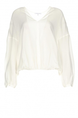 Patrizia Pepe |  Silk top Irina | white