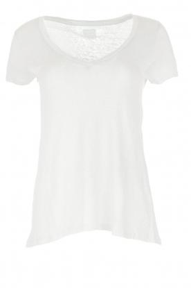 BLAUMAX | 100% linnen T-shirt Faro | wit