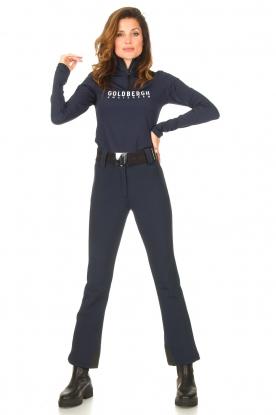 Goldbergh | Slim fit skibroek Pippa | blauw