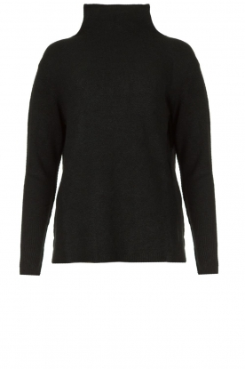 Be Pure | Soft turtleneck sweater Alice | black
