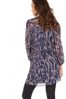 Zijden jurk Kylee | Blauw