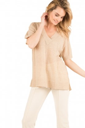 By Malene Birger | Gebreide top Allawilde | naturel