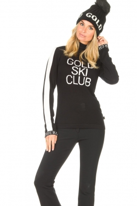 Goldbergh |  Knitted sweater with turtleneck Club | black