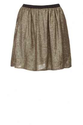 Louizon | Skirt with golden fabric Castana | gold