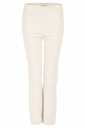 By Malene Birger | Lamsleren stretch broek Florentina | ivory