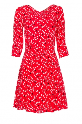 Patrizia Pepe |  Dress with dots print Vivi | red
