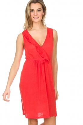 BLAUMAX | Linnen jurk Jennifer | rood