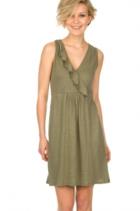 Blaumax |  Linen dress Jennifer | green