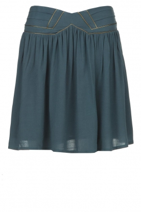 Louizon | Skirt with gold seams Ella | blue