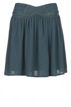 Louizon |  Skirt with gold seams Ella | blue