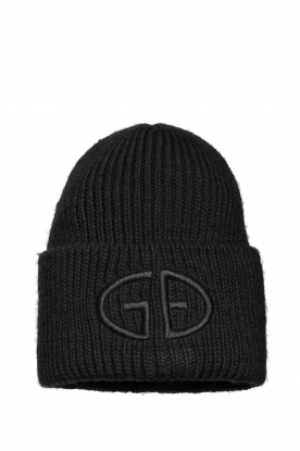 Goldbergh |  Knitted chunky beanie Valerie | black