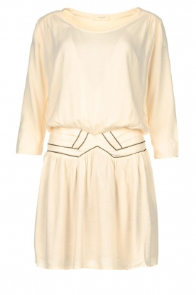 Louizon | Dress with bronze seams Elliot | natural