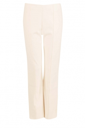 By Malene Birger |  Cropped trousers Viggie | cream white