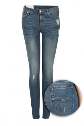 7 For All Mankind | Skinny jeans The Skinny | blauw
